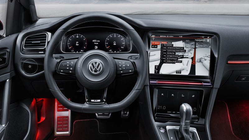 Illustration for article titled Volkswagen Put Some Big Ass Touchscreens In The Golf R