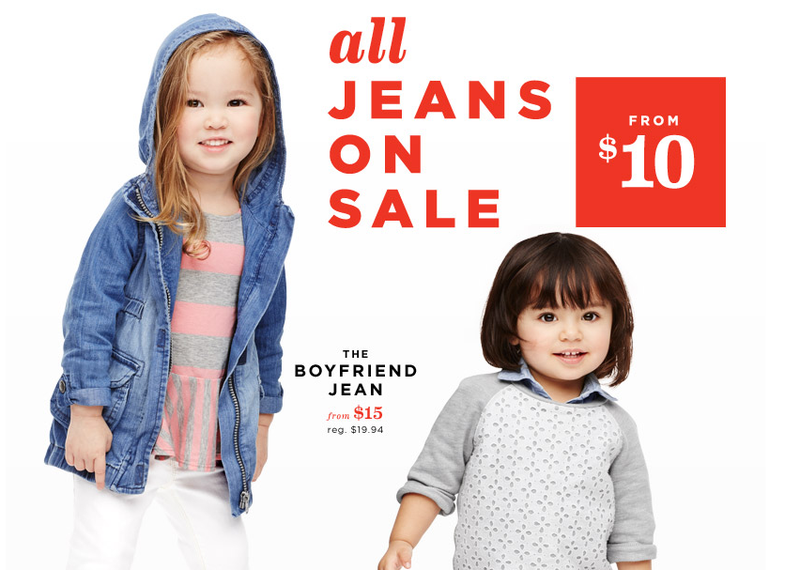 Illustration for article titled Attention Cool Moms: Old Navy's Boyfriend Jeans for Babies Are On Sale