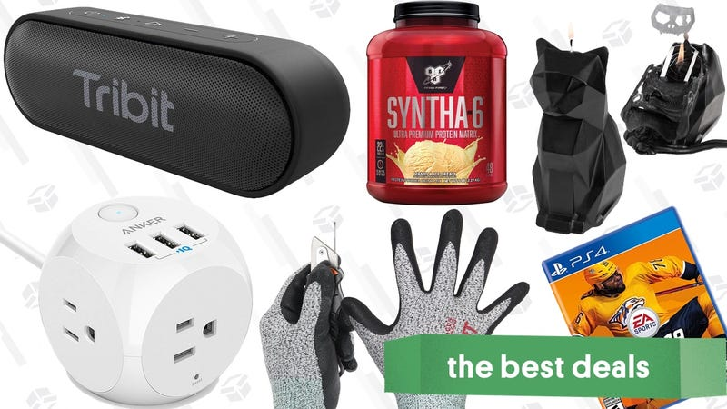 Illustration for article titled Friday's Best Deals: Anker Charging Cube, Cut Resistant Gloves, Protein Powder, and More