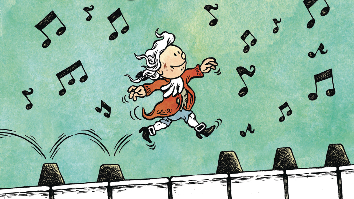 Young Mozart composes kid-friendly comic strips around a musical icon