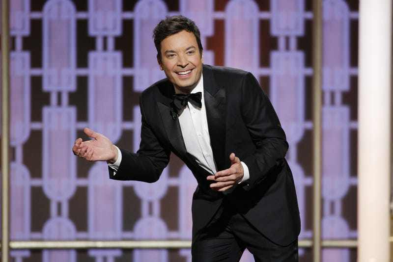 Host Jimmy Fallon onstage during the 74th Annual Golden Globe Awards at the Beverly Hilton Hotel on Jan. 8, 2017, in Beverly Hills, Calif.Paul Drinkwater/NBCUniversal via Getty Images
