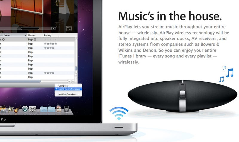 Illustration for article titled Apple's AirPlay Will Be Built Into Third Party Docks and Stereo Systems