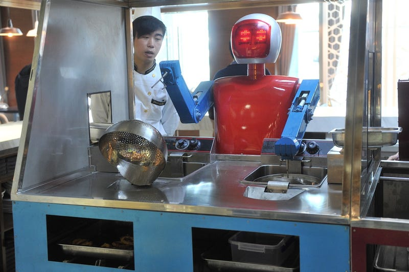Illustration for article titled Wall.e Restaurant Staffed With Robots Opens in China