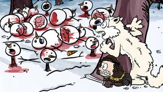 Illustration for article titled Game of Thrones, in the style of Calvin and Hobbes