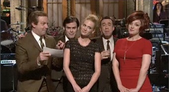 Illustration for article titled Mad Men, Grace Kelly, And Poop Jokes Galore: January Jones Has A Rough Night On SNL