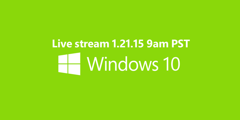 Illustration for article titled Where to Watch Today's Windows 10 Live Stream