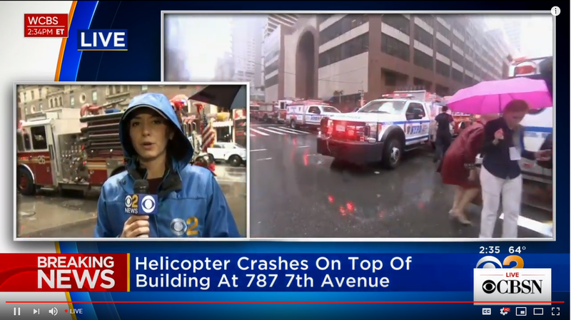 Illustration for article titled News Helicopter Crash in New York City