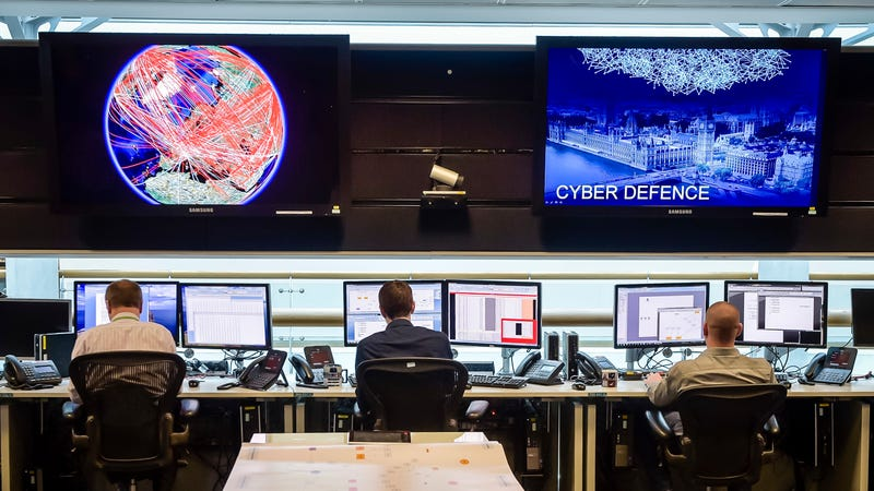 A 24-hour Operations Room inside the GCHQ in Cheltenham, England. Photo: Getty