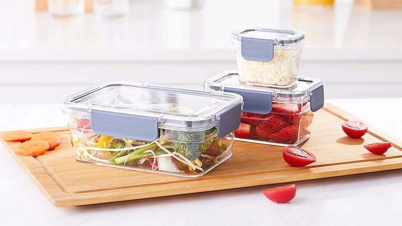 AmazonBasics 10-Piece Locking Food Storage | $13 | Amazon