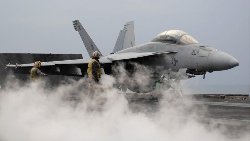 A U.S. Navy F/A-18E Super Hornet. Photo credit Boeing