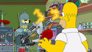 Illustration for article titled The Simpsons/Futurama crossover: a first image revealed!