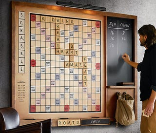 itu0027s not as monstrous as the wallhanging scrabble board that hammacher schlemmer sells but restoration take on the classic spelling game will