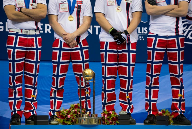 Illustration for article titled Thomas Ulsrud's Norwegian Team Is Disbanding After 12 Years Of Curling, 10 Years Of Outrageous Pants