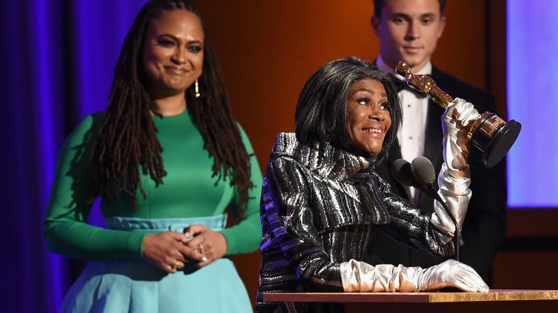 Ava DuVernay presents an award to Cicely Tyson onstage during the Academy of Motion Picture Arts and Sciences' 10th annual Governors Awards at The Ray Dolby Ballroom at Hollywood & Highland Center on November 18, 2018 in Hollywood, California.