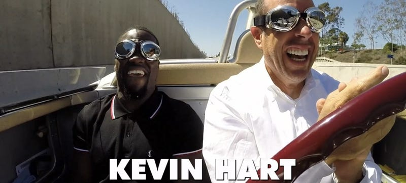 Illustration for article titled Seinfeld Takes Kevin Hart Out In His Most Ridiculous Porsche Yet