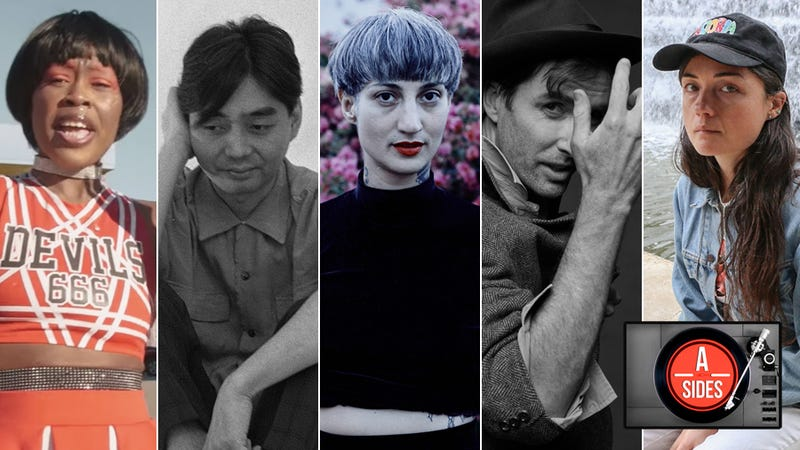Bbymutha (Screenshot: YouTube); Haruomi Hosono (Photo: Courtesy of The Masahi Kuwamoto Archives); Luz Elena Mendoza of Y La Bamba (Photo: Steffanie Walk); Andrew Bird (Photo: Amanda Demme); and Liz Harris, a.k.a. Nivhek (Photo: Bandcamp)