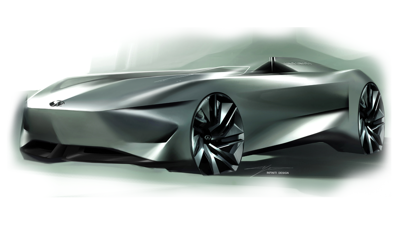 Illustration for article titled Infiniti's Prototype 10 Concept Car Looks Like a Single-Seater Torpedo
