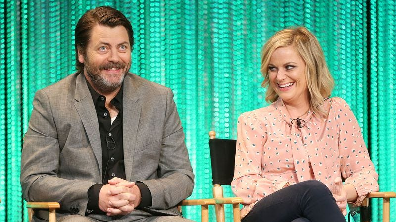 amy poehler and nick offerman to host crafting competition on nbc. Black Bedroom Furniture Sets. Home Design Ideas