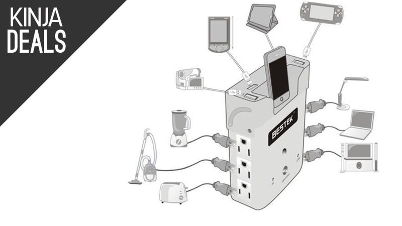 Illustration for article titled This Six-Outlet Surge Protector Includes Four USB Ports For $11