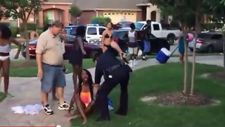 Video shows McKinney, Texas, police officer manhandling a 15-year-old girl after a pool party June 5, 2015.Youtube screenshot