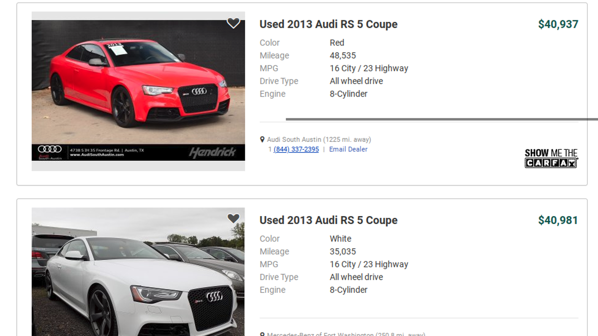 Did You Know You Could Buy A HP Audi RS For - Audi south austin