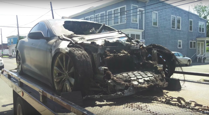 Illustration for article titled The Tragic Tale Of TheFrankensteinTesla Model S That Burned Down [UPDATE: You Got Us]