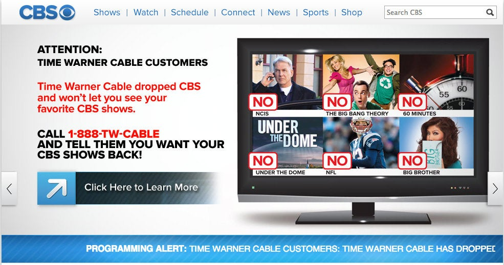 Twctime Warner Cable 888 Twcable: Time Warner Cable and CBS Make Up Just in Time for NFL Seasonrh:gizmodo.com,Design