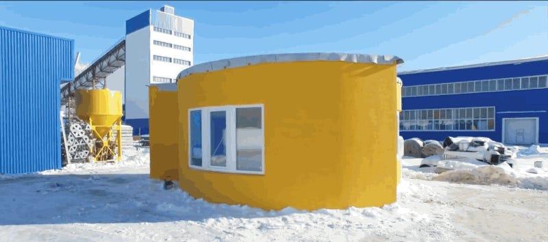 En rusia han construido una casa con impresi n 3d en tan for Impresion 3d construccion
