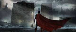 Illustration for article titled At Least Batman v Superman's Concept Art Makes Gotham and Metropolis Shine