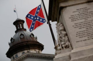 The Confederate flag next to South Carolina's StatehouseWin McNamee/Getty Images