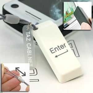 Illustration for article titled Enter Key Cell Phone Strap for the Type-Happy