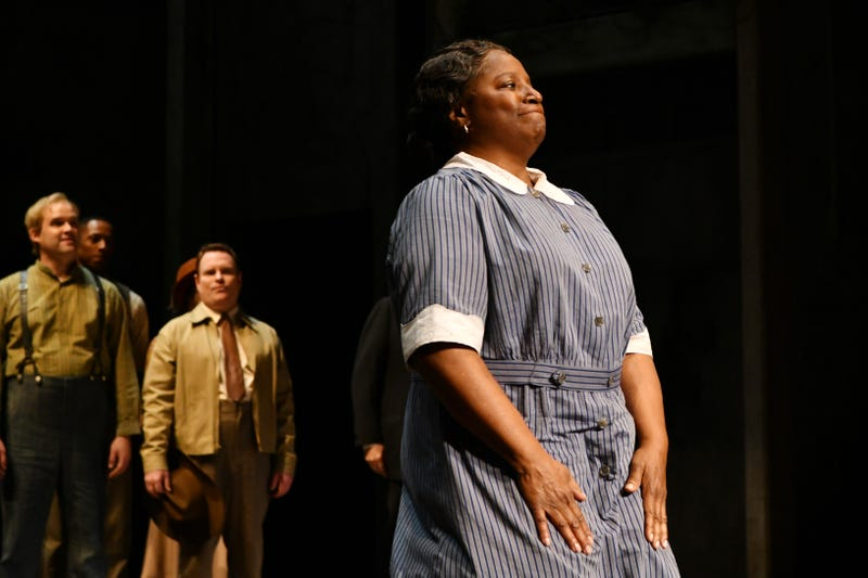 LaTanya Richardson takes a bow after the opening night performance of 'To Kill A Mockingbird' at the Shubert Theatre on December 13, 2018 in New York City.