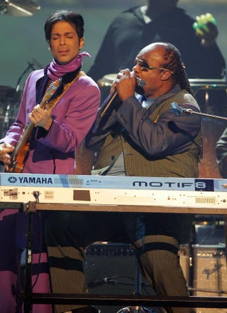 Prince and Stevie WonderFrazer Harrison/Getty Images