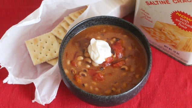 Turn a Can of Black Eyed Peas Into a Hearty Stew