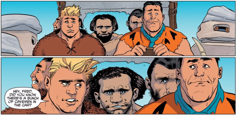 Illustration for article titled The New Flintstones Comic Has Hipster Cavemen and Postmodern Angst