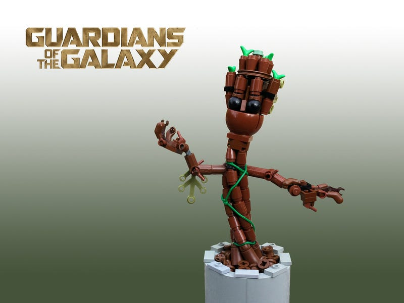 Illustration for article titled Baby Groot is just as cute in Lego form