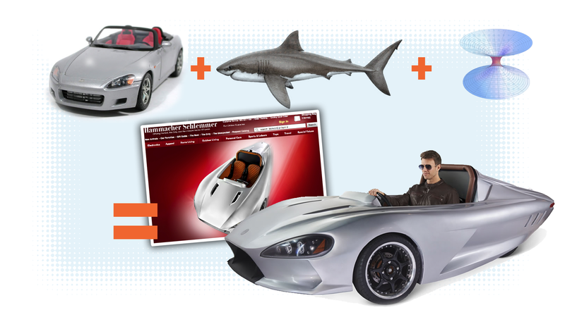 Illustration for article titled Hammacher Schlemmer Will Sell You A Deathtrap That Looks Like A Honda S2000 And A Shark Got Pulled Into A Wormhole