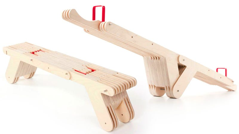 Illustration for article titled There Needs To Be an Adult Version of This Transforming Seesaw Bench