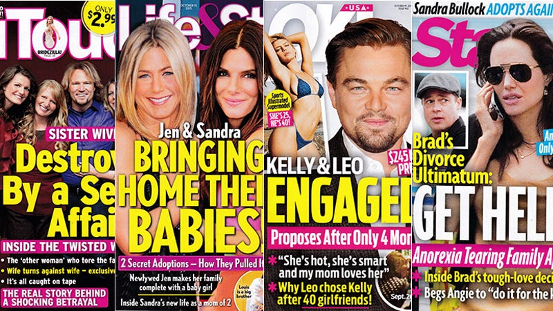 Illustration for article titled This Week In Tabloids: Leo Breaks the Pussy Posse's Golden Rule By Getting Engaged