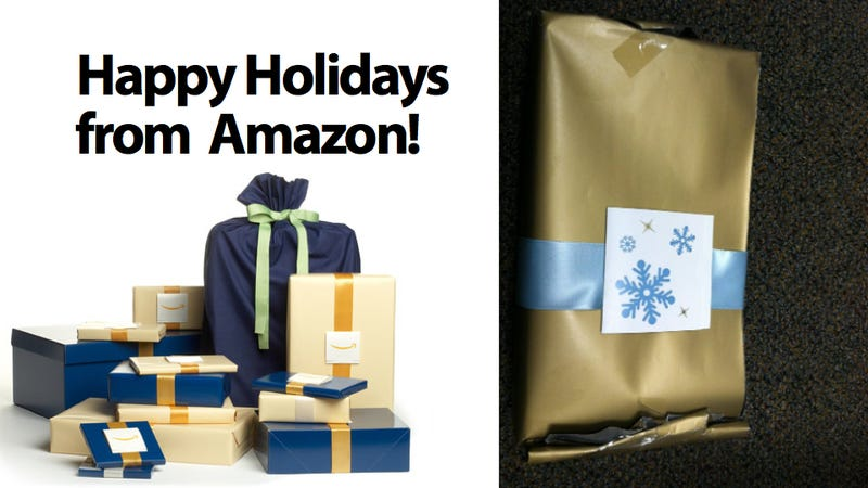 if you order amazon gift wrap you might get this instead - Amazon Christmas Gifts