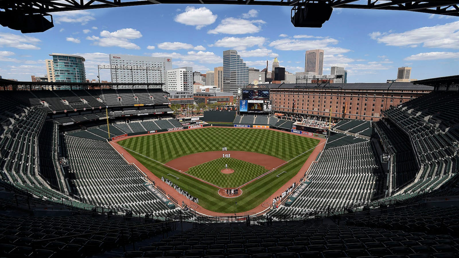 Photos An Empty Stadium In Baltimore Hosts A Mlb Baseball