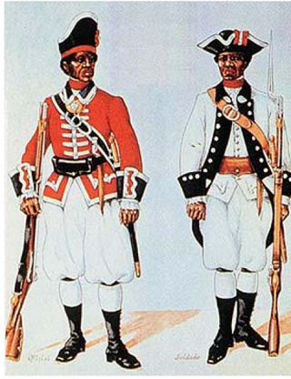 Depiction of Florida's black Spanish militia in the 18th centuryAugustine.com
