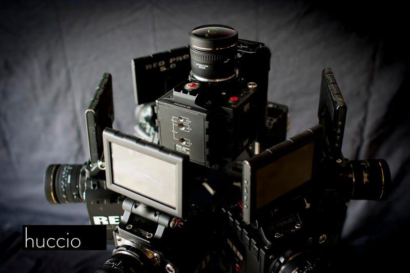 Este es el aspecto que tiene un set de cámaras para rodar porno virtual