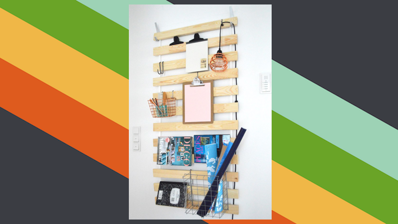 Turn these ikea bed slats into versatile wall storage
