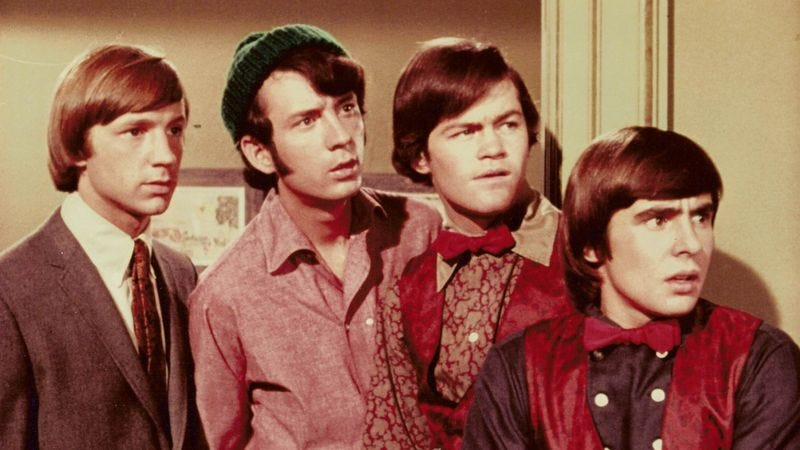 The Monkees, with Peter Tork on the left