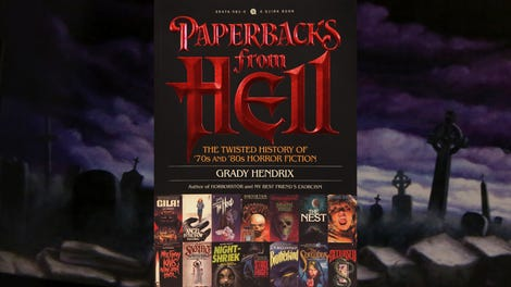 A bunch of great-bad '70s and '80s horror paperbacks are