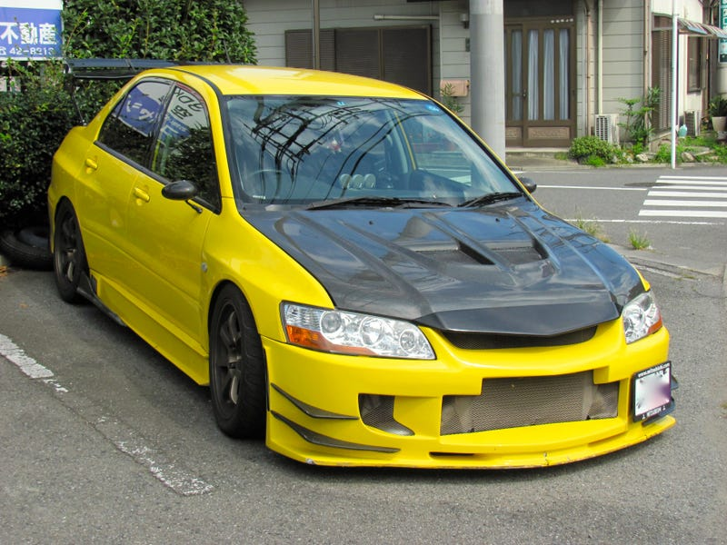 Illustration for article titled This Is One Awesome Mitsubishi Evolution VII Drift Car