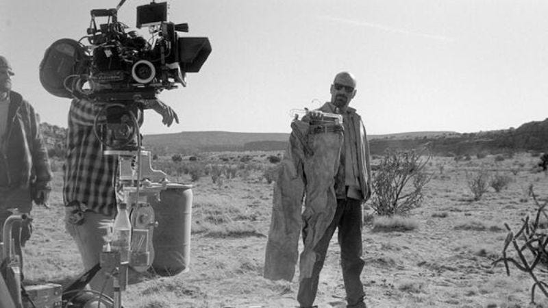 """Illustration for article titled Rian Johnson tweeted a bunch of behind-the-scenes photos from Breaking Bad's""""Ozymandias"""""""
