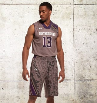 Illustration for article titled Northwestern To Wear Stupid Custom Uniforms Yet Again