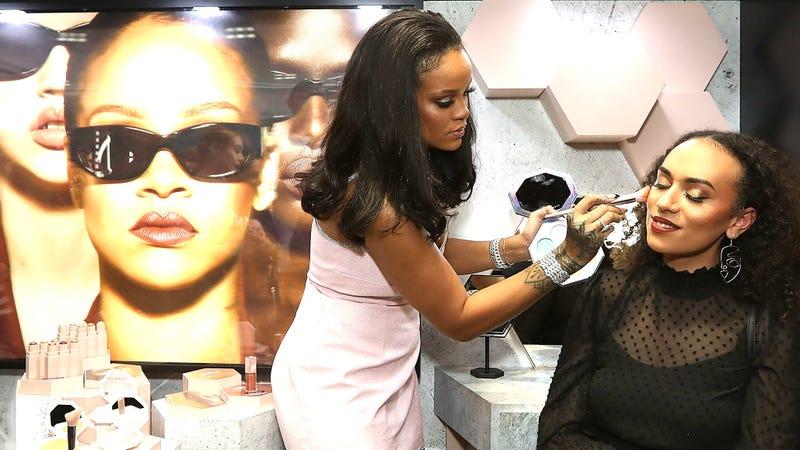 Rihanna attends the Fenty Beauty by Rihanna Anniversary Event at Sephora Pitt Street store on October 3, 2018 in Sydney, Australia.